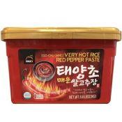Haioreum Red Pepper Paste Very Hot 6.6lb(3kg), 해오름 태양초 쌀 고추장 매운맛 6.6lb(3kg)