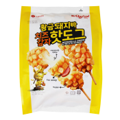 Lotte Mozzarella Cheese & Potato Hotdog 11.2oz(320g), 롯데 황금돼지바 치즈감자 핫도그 11.2oz(320g)