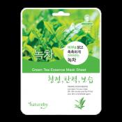 Natureby Green Tea Essense Sheet Mask 0.81oz(23g), 네이쳐바이 녹차 마스크팩 0.81oz(23g)