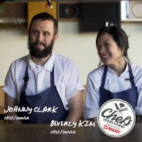 Chef Johnny Clark and Beverly Kim at Parachute & Tuna bibimbap Recipe