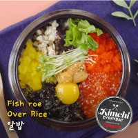 Fish roe over rice / 알밥