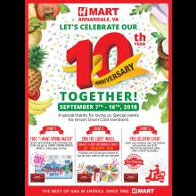 Hmart Annandale celebrates its 10th year with special event!