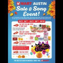 H Mart Austin Sale & Song Event!