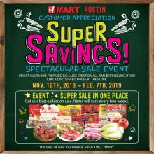 Hmart Austin, Super savings coupon event!