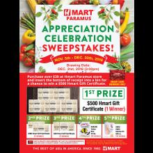 Hmart Paramus Customer Appreciation Sweepstakes Event!