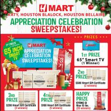 Hmart Houston Blalock, Houston Bellaire and Katy Sweepstakes Event!