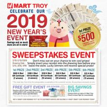 [H Mart Troy Michigan] 2019 New Year Sweepstakes Event!