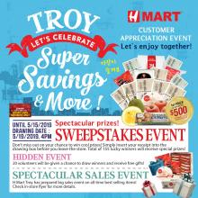 H Mart Tory Sweepstakes Hidden Event!