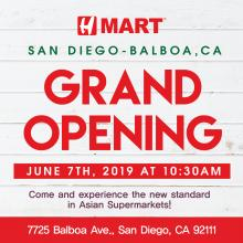 [Grand Opening] H Mart San Diego - Balboa Store