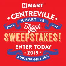 H Mart Centreville Sweepstakes Event