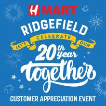 Let us celebrate H Mart Ridgefield (NJ) 20th year together