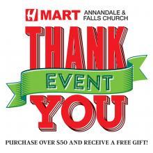 [H Mart Annandale & Falls Church - VA] Customer Appreciation Event