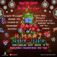 H Mart Austin (TX) Twelve Days of Event