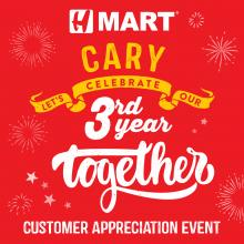 H Mart Cary (NC) The Third Year Anniversary Event!