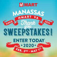 H Mart Manassas (VA) Thank You Sweepstakes Event!