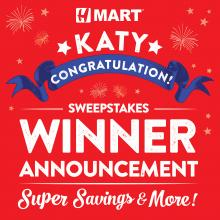 H Mart Katy (TX) 1st Year Anniversary Sweepstakes Winner Announcement!