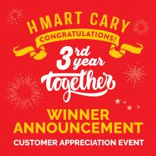 H Mart Cary, NC -  Congratulations to All the Winners!