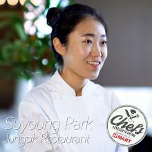 Chef Suyoung Park at Jungsik : Myeong Ran Bibimbap / 명란 비빔밥