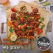 Spicy Chicken Skewers / 매운 닭꼬치