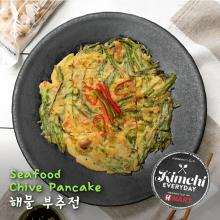 Seafood Chive Pancake / 해물 부추전