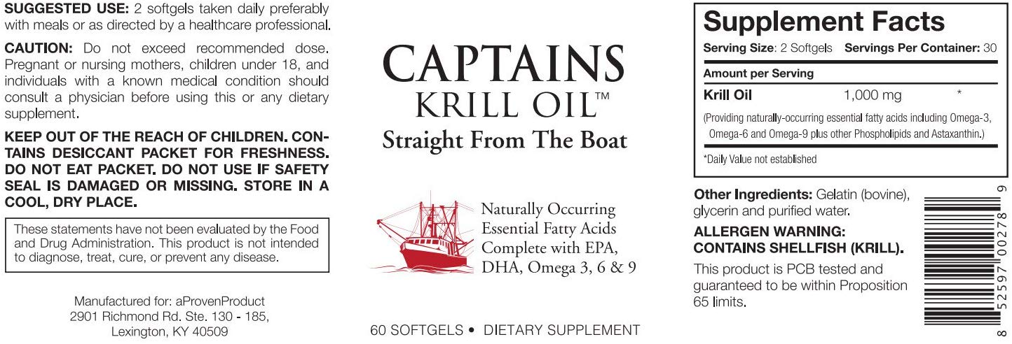 Captains Krill Oil 1,000mg 60 Caps