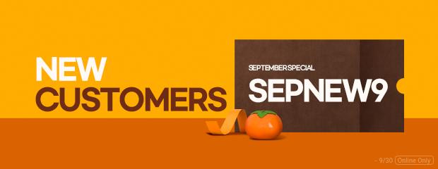 new customers september