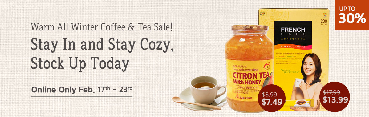 Winter Coffee & Tea Sale